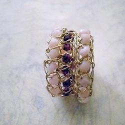 SALE 30% OFF - Crochet gold wire rings- size 7.5